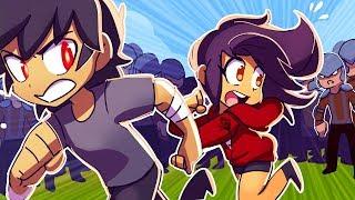 Aphmau and Aaron ON THE RUN! - [MYSTREET HIDE AND SEEK]