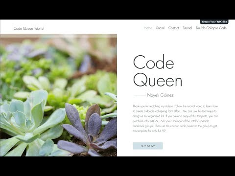 How to create a double collapsing effect with Wix Code