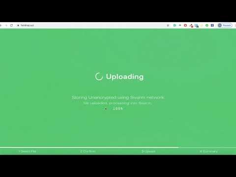 Upload a Website to Ethereum Swarm Using Fairdrop