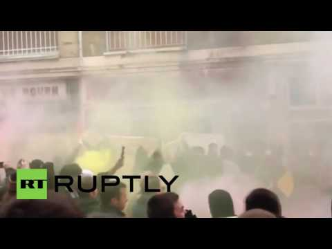 France  Protesters besiege office of Hollande's Socialist Party in Rouen