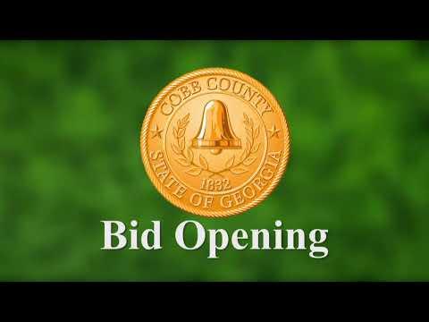 Cobb County Bid Opening - 04/25/19