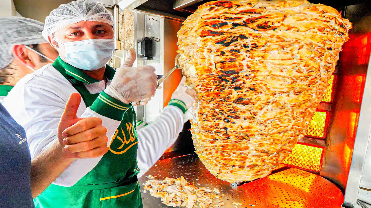 EXTREME 100KG Shawarma in Dubai - Dubai's BIGGEST SPINNING MEAT!!!