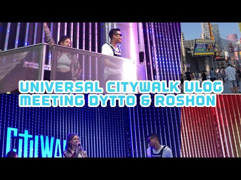 Universal CityWalk - Meeting Dytto & Roshon Fegan