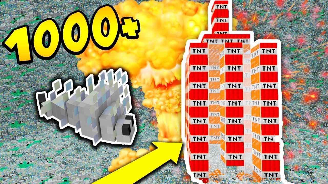 1000 SILVERFISH vs WIEŻA ZE SZKŁA + TNT!!! – MINECRAFT APOKALIPSA #5