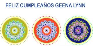 Geena Lynn   Indian Designs - Happy Birthday