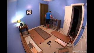 Assembly Timelapse Of Ikea Hemnes 8-drawer Gray-brown Dresser
