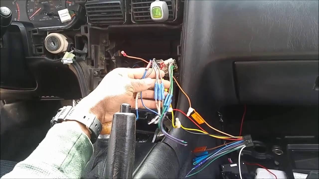 91 Mr2 Radio Wiring Diagram Horn 1991 Double Din Install Youtuberhyoutube
