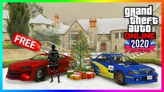 GTA 5 Online Festive Surprise DLC Update - NEW YEARS DAY 2020 GIFTS! FREE Items, Final Snow & MORE!