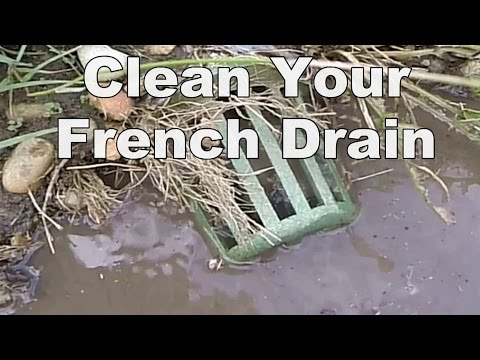 How To Clean French Drain - A Good Drain Cleaning Machine Makes the Difference