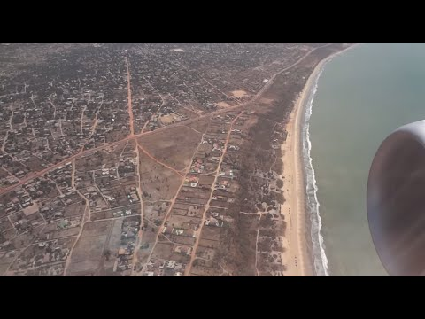 Transavia Landing Banjul - The Gambia (full cabin view) [HD]