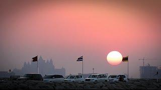 BURJ AL ARAB BEACH DUBAI SUN SET