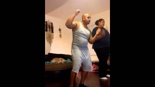 My dad drunk dancing to Fine China on Just dance