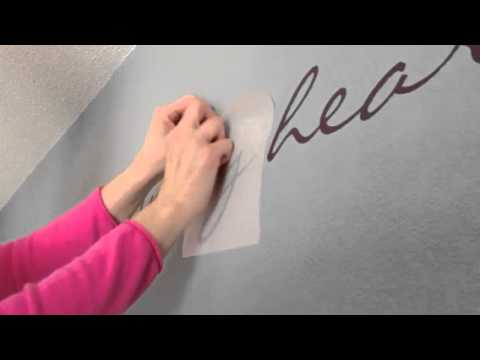 Uppercase Living Installation On Textured Wall YouTube - How to get vinyl lettering to stick to textured walls
