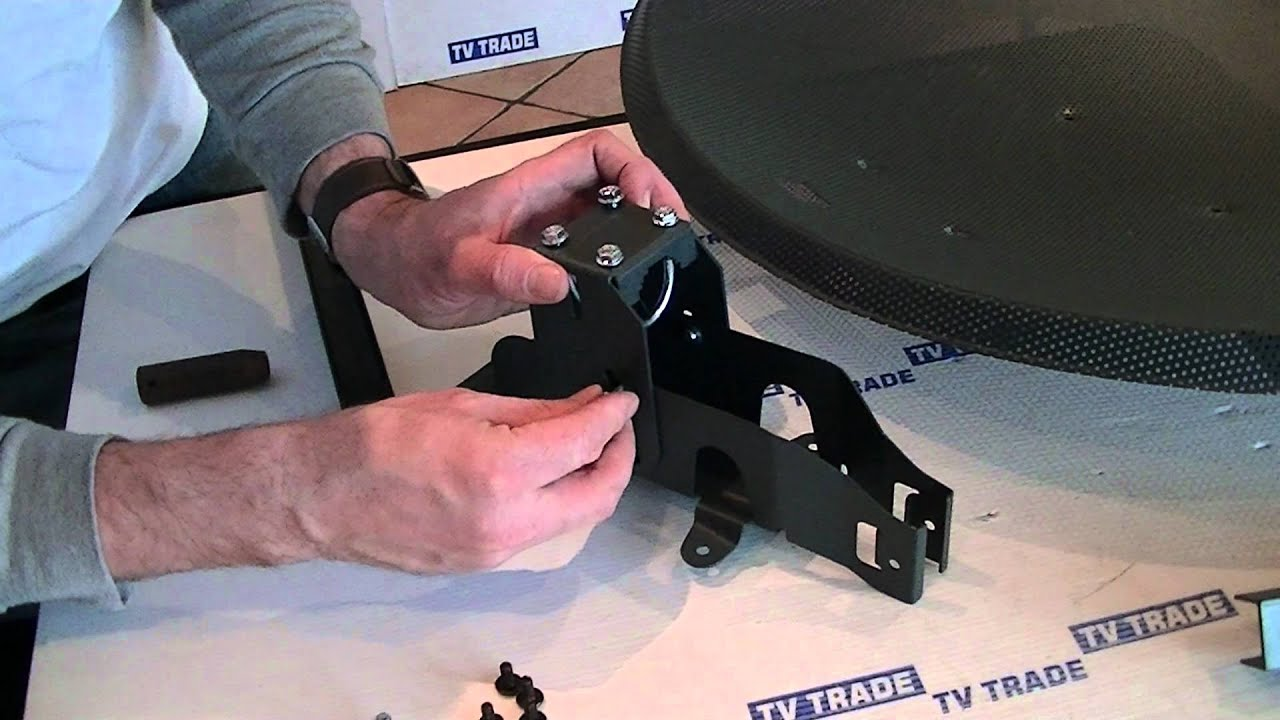 how to assemble a sky freesat satellite dish [ 1280 x 720 Pixel ]