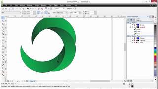 How to make awesome Logo in CorelDraw (Circle, Round logo design)