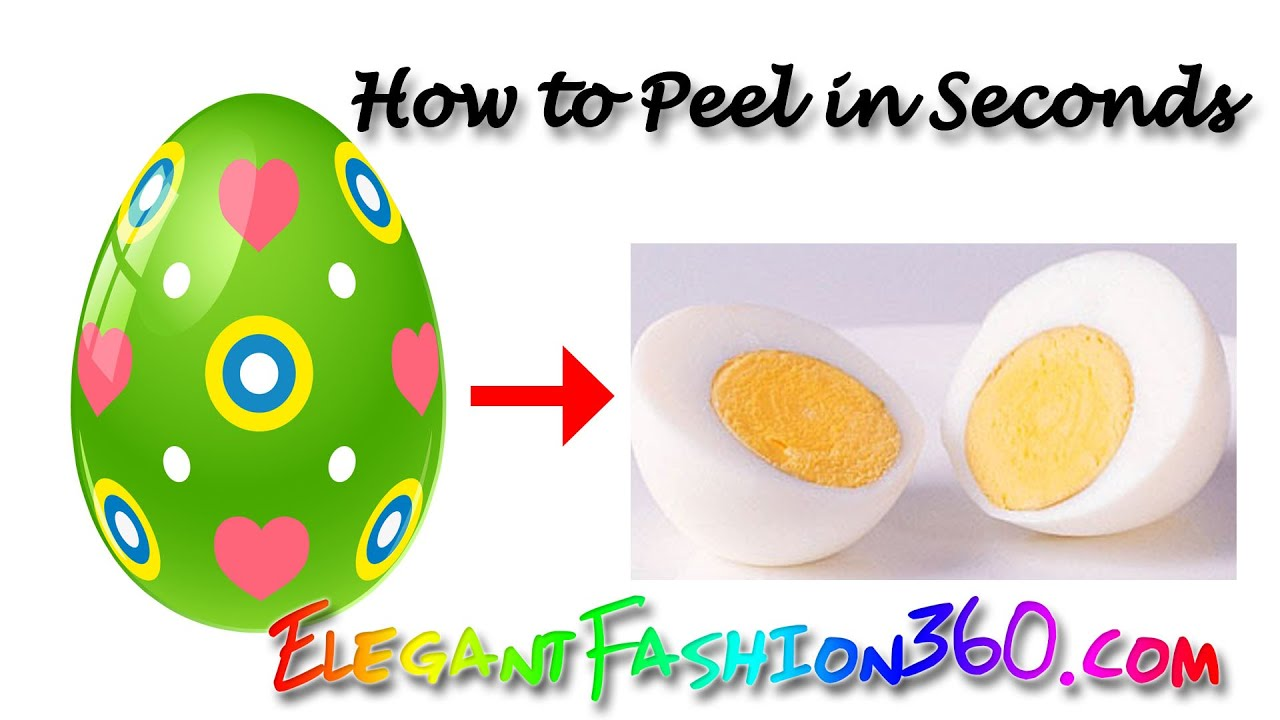 Easiest Way To Peel An Egg In Seconds  Hard Boiled Egg  Easy Peeling For  Easter