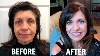 GIVING MY MOM A MAKEOVER! BEFORE AND AFTER!
