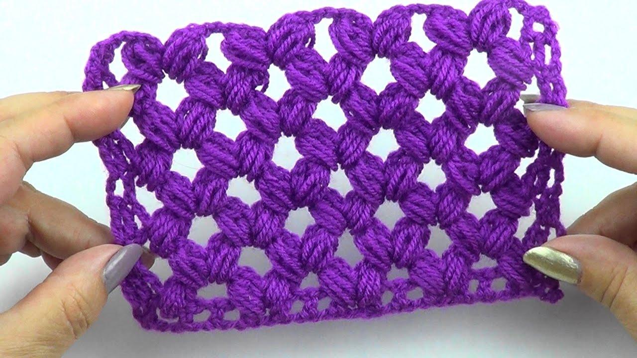 Ажурный узор Пышная сеточка   Openwork pattern Lush mesh