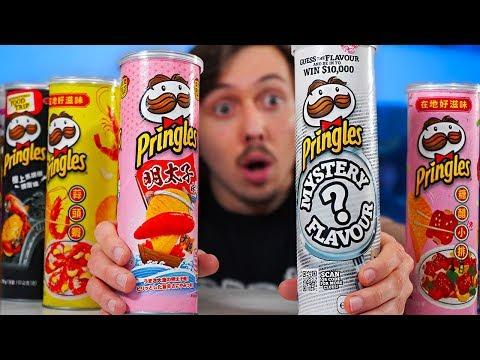 Je teste des variétés de Pringles insolites
