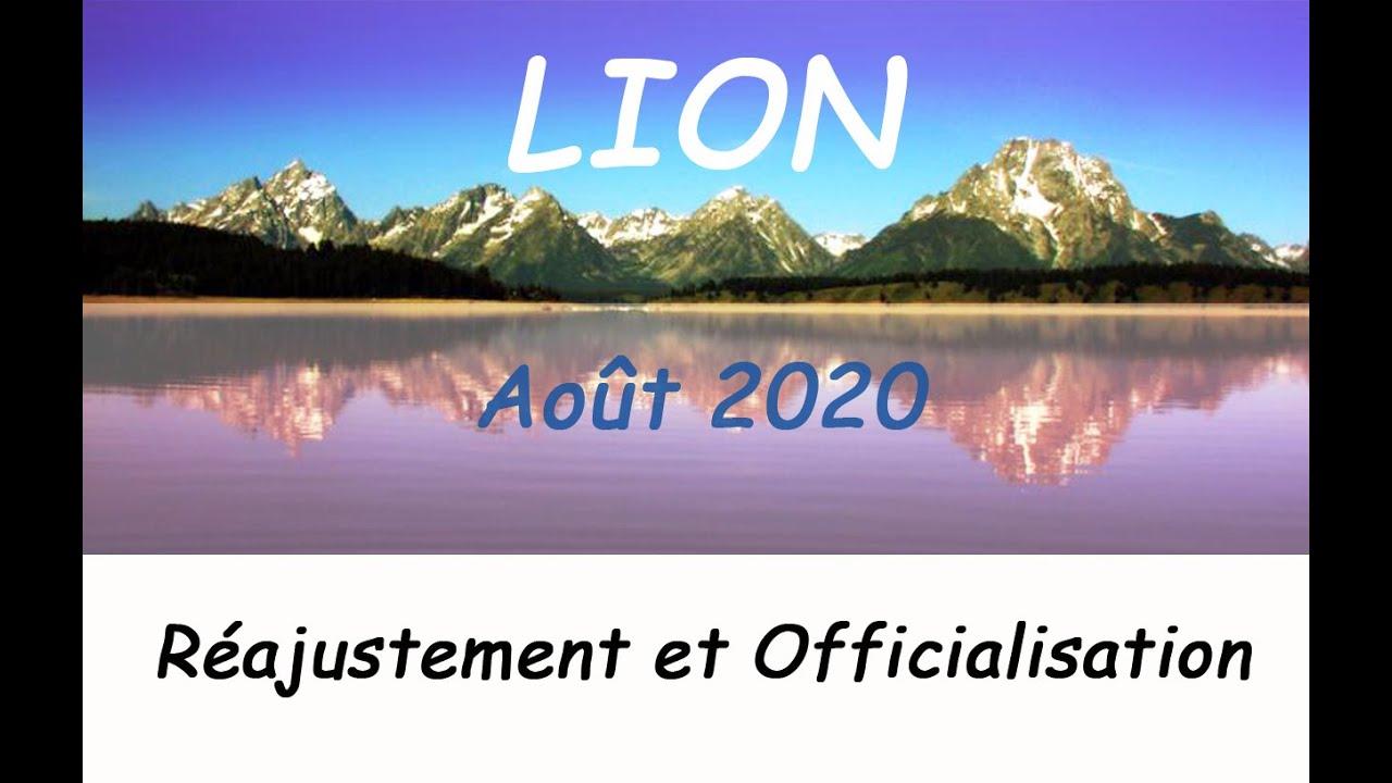 """Lion - """" Un réajustement dans un domaine de vie ! """" Août 2020"""
