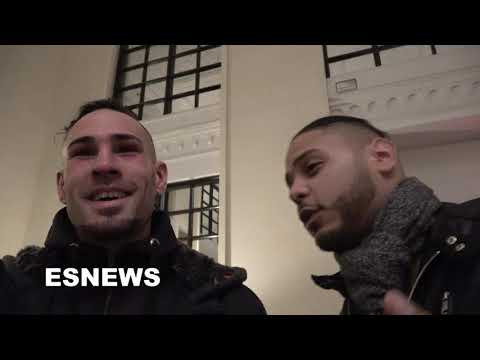jose-pedraza-with-his-family-right-after-lomachenko-fight-talks-to-esnews-boxing