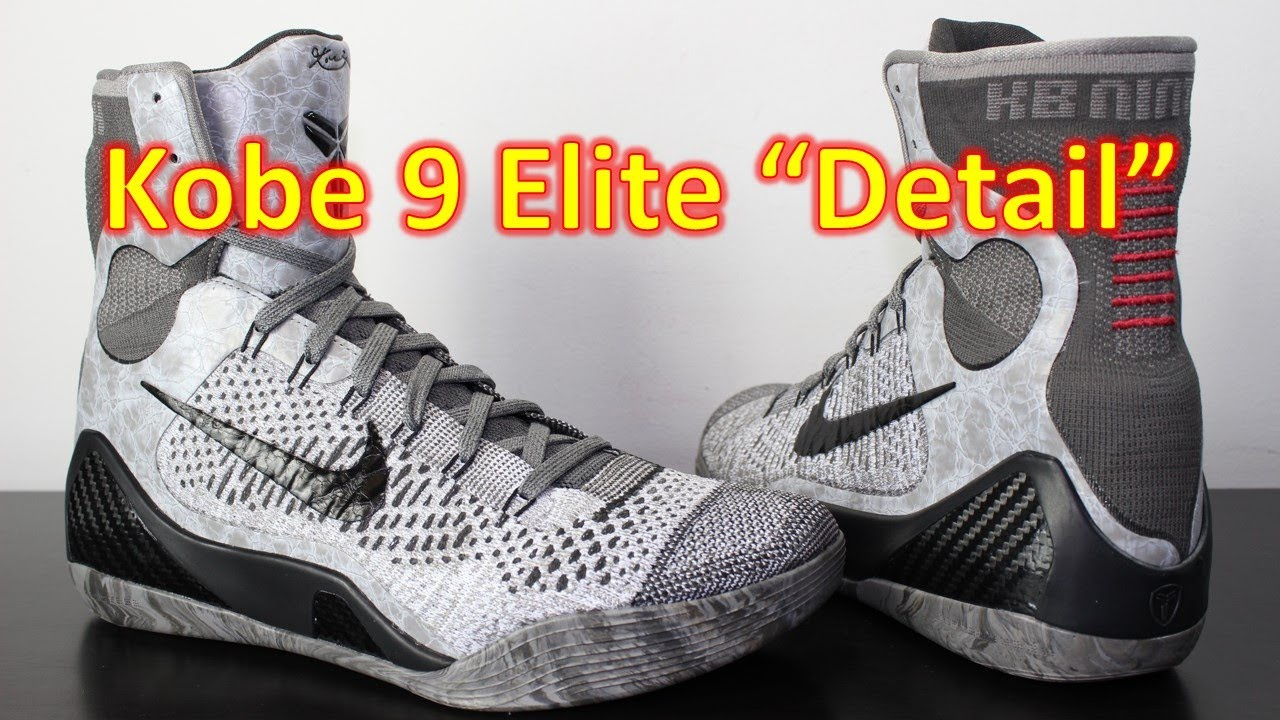 28f7cd9f302d Nike Kobe 9 Elite Detail - Review + On Feet - YouTube