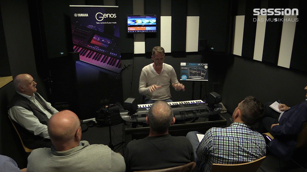 yamaha genos workshop mit manni pichler bei session. Black Bedroom Furniture Sets. Home Design Ideas