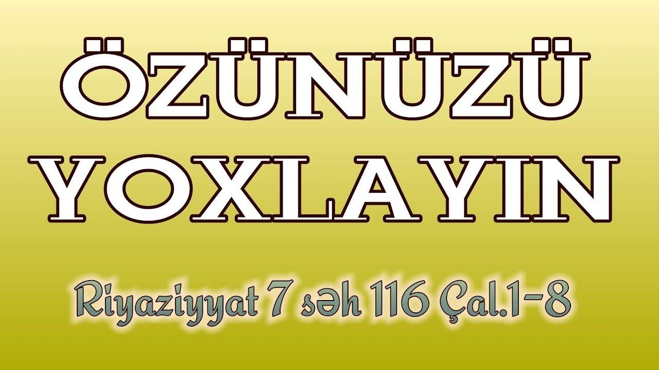 RİYAZİYYAT 7 / SƏH 115 / NİSBİ XƏTA