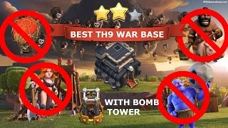 UPDATED TOP 3√√   TH9   WAR BASES   MARCH 2017    CLASH OF CLANS√√