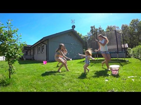 snöbollskrig mitt i sommaren - Familjen Reinhold testar