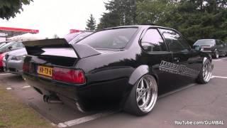 Modified BMW E24 635 CSI   Wheelspin exhaust sounds!