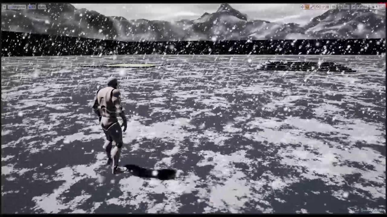 Orbit: Weather & Seasons - Snow Test (Unreal Engine 4)