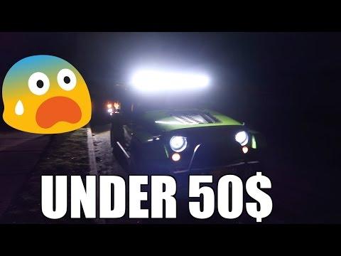 """Brightest 52"""" LED LIGHT BAR FOR Under  $50 Dollars Jeep Wrangler"""