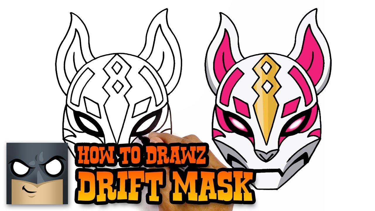 How to Draw Fortnite | Drift Mask - YouTube