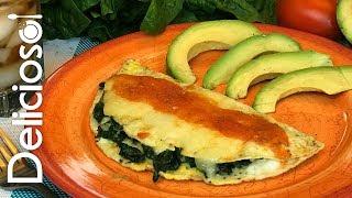 omelette con espinacas low carb delicioso