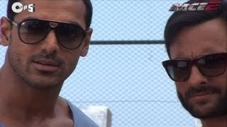 Saif & John On The Sets of Race 2 - Behind The Scenes