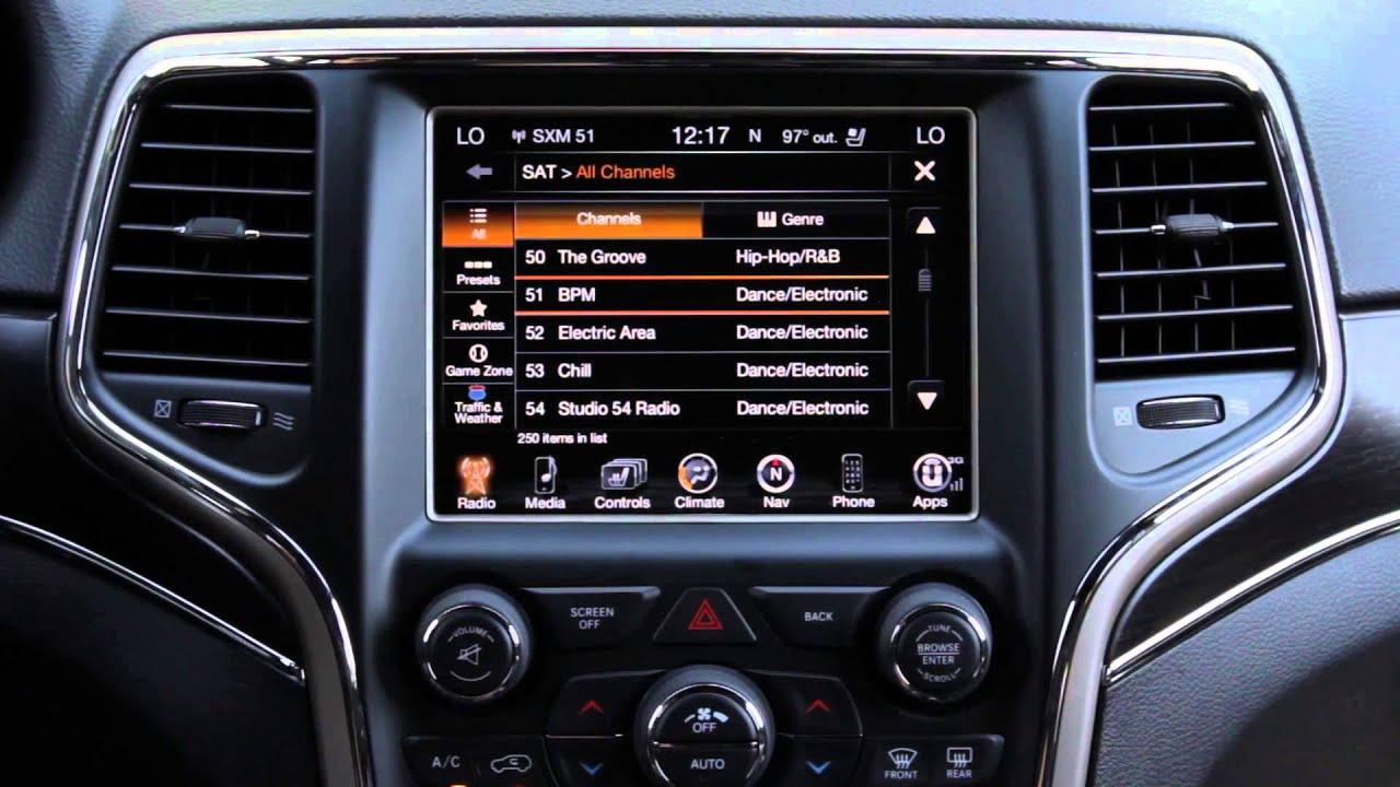 2018 Jeep Grand Cherokee >> 8.4AN Radio Operation Tutorial - YouTube