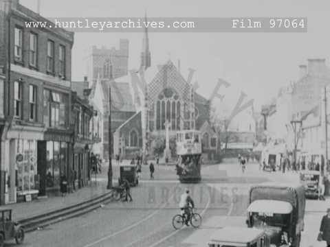 Trams At Barnet, London, 1920s - Film 97064