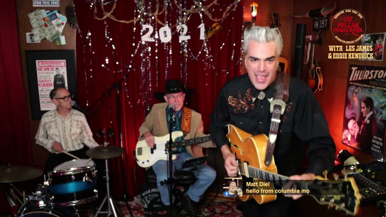 Live From The Polzak Ponderosa: The FULL Band! #81 Special guests Les James & Eddie Kendrick!