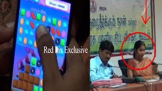 Lady Officer Playing 'Candy Crush' In Dharmapuri Farmers Grievance Meeting – Must Watch Till The End