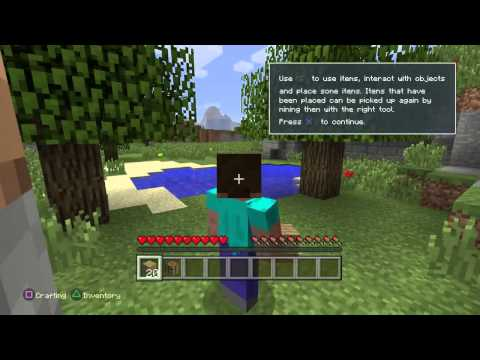 MINECRAFT Tutorial Gameplay On PlayStation 4 (PS4)