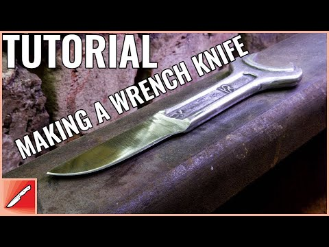 Knife Making - Tutorial - How To Make a Knife from a Wrench / DIY / Handmade