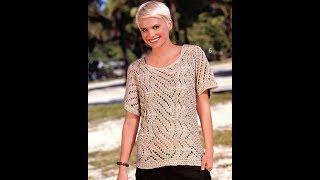 Летняя Кофточка Крючком для Начинающих - 2019 / Summer Blouse Crochet for Beginners