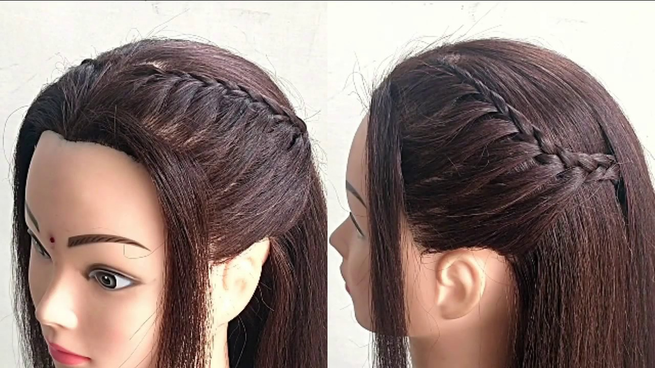 Simple Hairstyle For Party or Function || Beautiful Party Hairstyle For Girls - YouTube