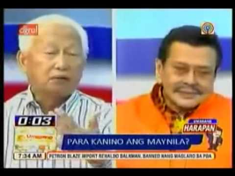 Unprecedented Debate Erap --  Lim. Epic!