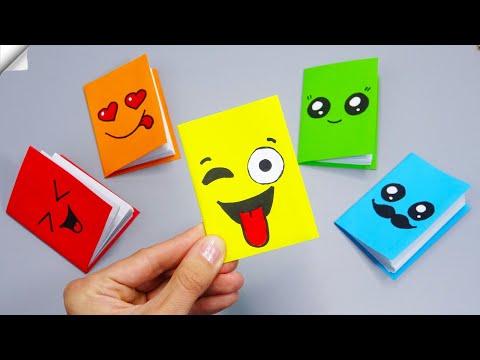 DIY Kawaii notebook of 1 sheet of paper | Mini notebook OF OWN HANDS | Ideas for school