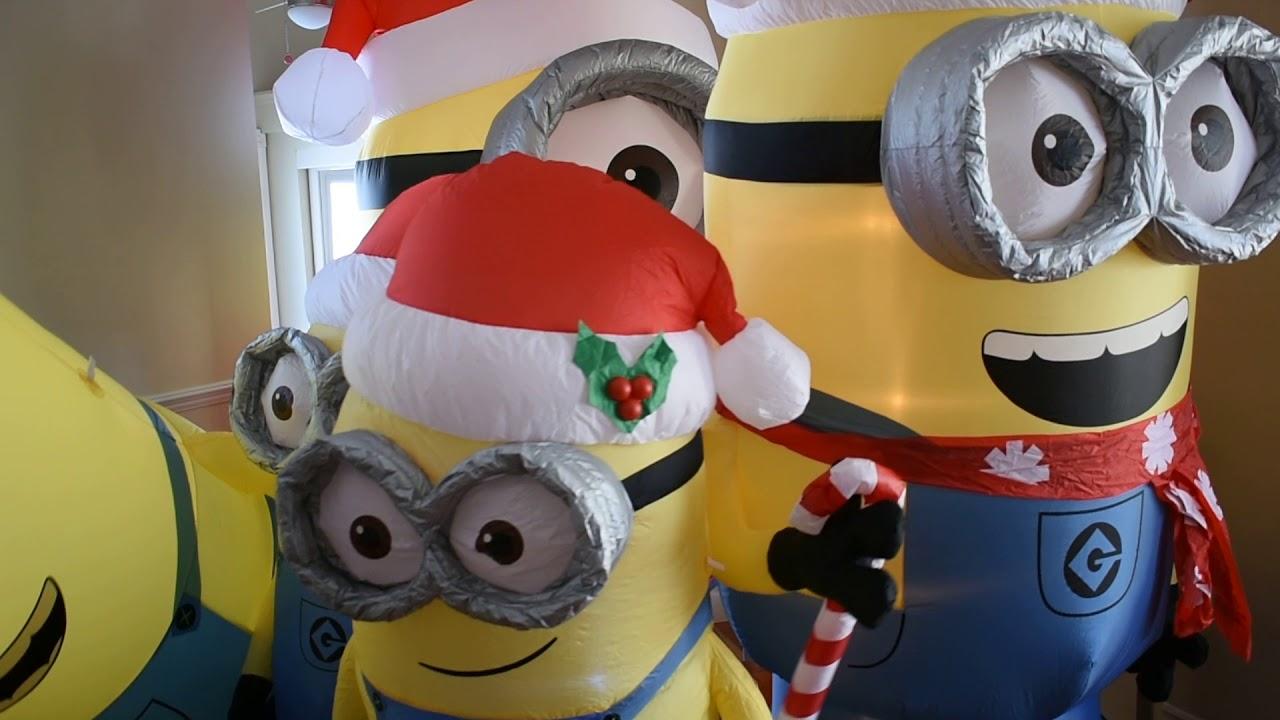 Christmas inflatable minion minion minion minion minion - YouTube