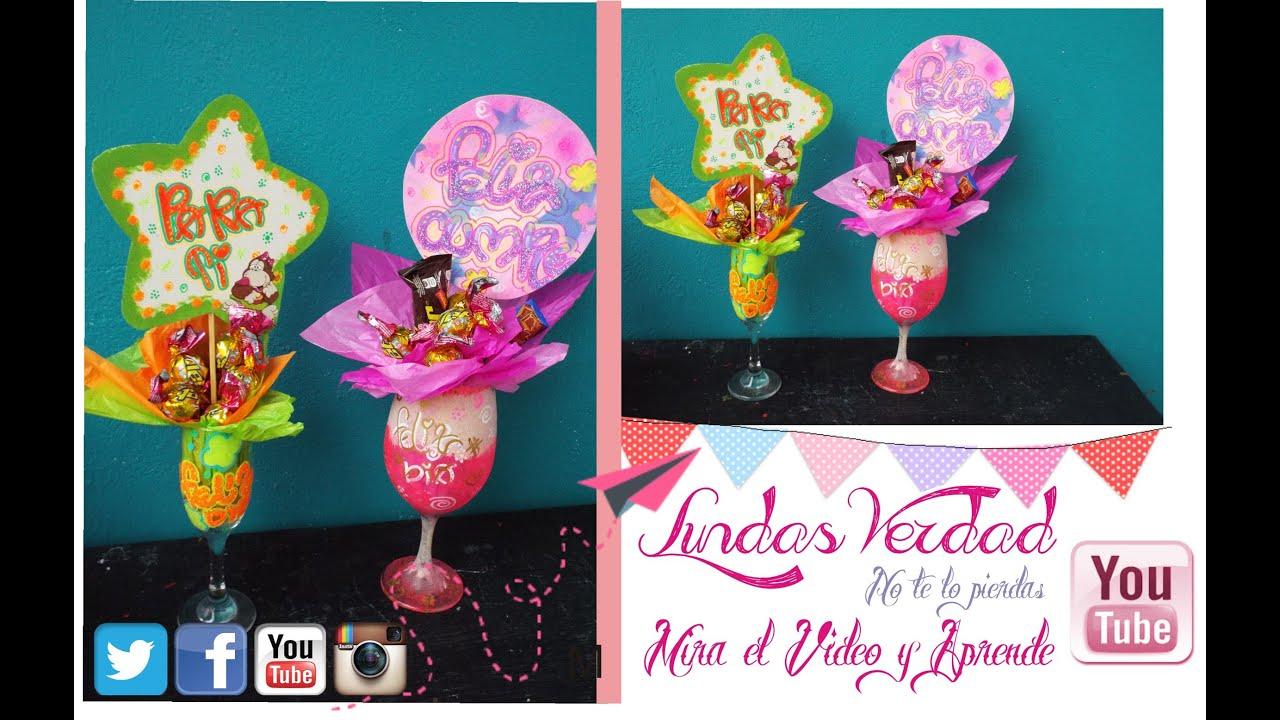 Diy copas decoradas facil regalos de cumplea os youtube - Regalos para fiestas de cumpleanos infantiles ...