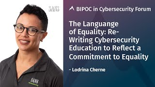 Keynote: The Language of Equality | Lodrina Cherne