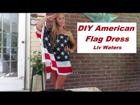DIY American Flag Dress For The 4th Of July!